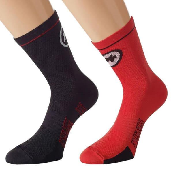 Assos Men's Red Mille Evo 7 Socks