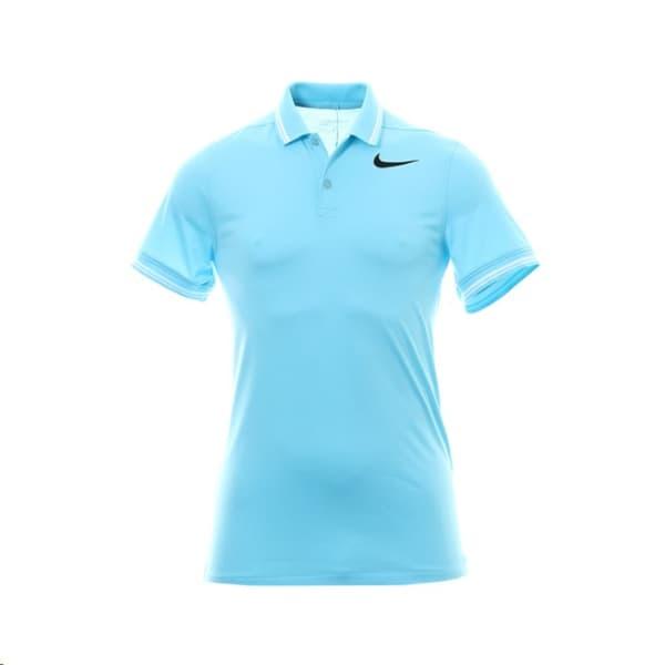 Nike Mens Dry Slim Polo Sky Blue Shirt