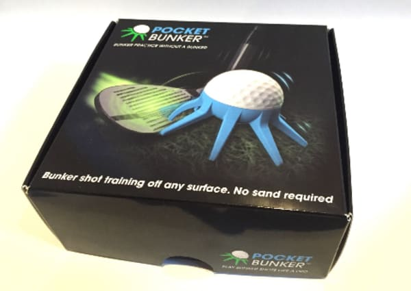 Pocket Bunker: Practice your green-side bunker shots anywhere!