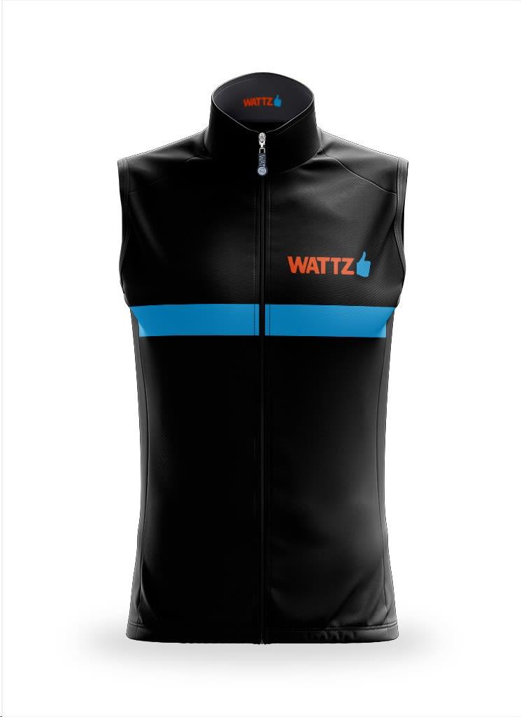 Wattz Men's Black/Orange Amplify Ride On Gilet