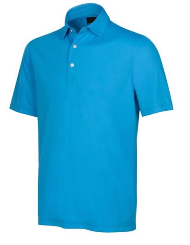 Greg Norman Protek 2Below Men's Blue Lagoon Polo Shirt
