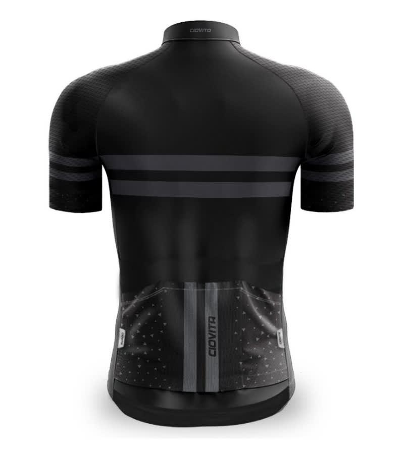 Ciovita Men's NERO ELITE Pro Fit Cycling Jersey