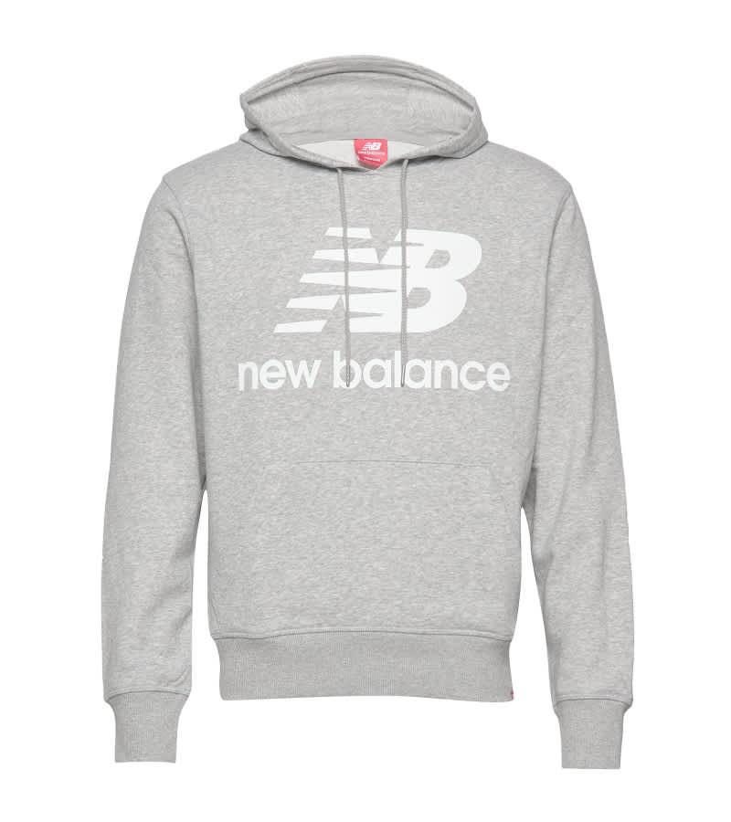New Balance Ladies ESSENTIALS STACKED LOGO Pullover Hoodie