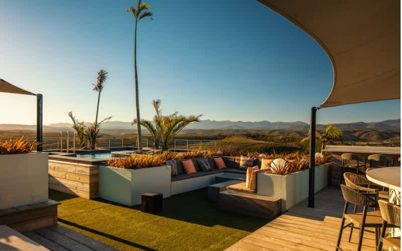2 Nights at The Sky Villa Boutique Hotel OR The Bungalow in Plett + Breakfast & Dinner + Golf at Goose Valley Golf Club + Cart - ONLY R1 999 pp sharing!