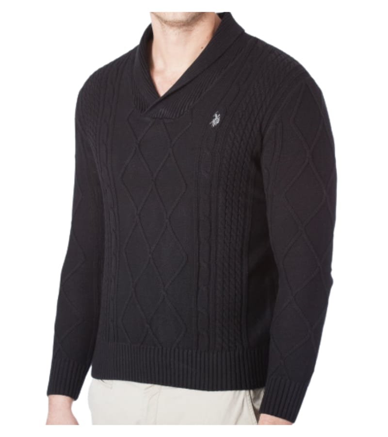 Men's V-Neck Cable Jersey