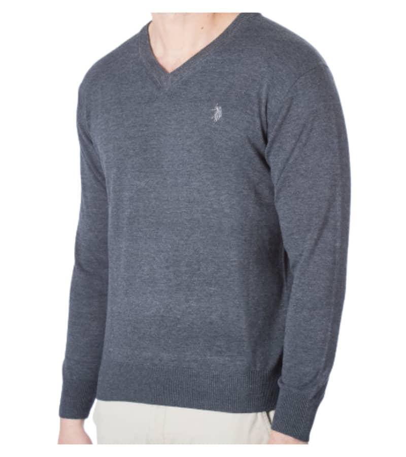 Men's Light Weight V-Neck Pullover
