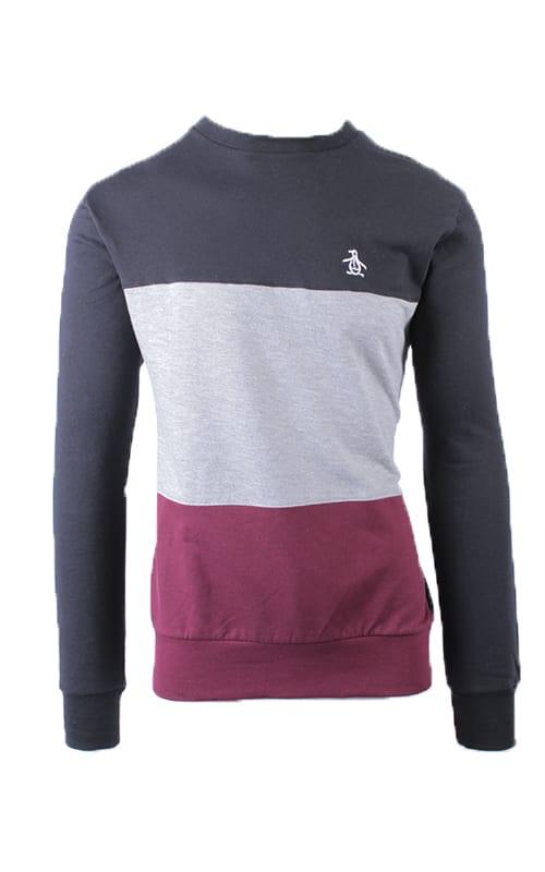 Men's Colour Blocked Fleece Crew Top