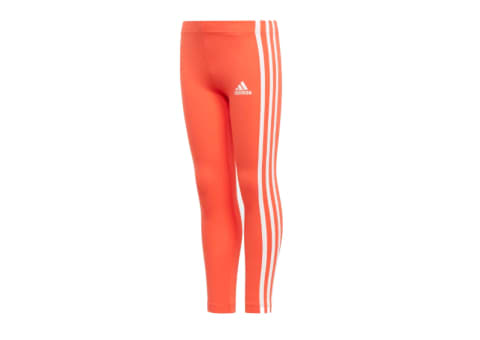 adidas Girls COTTON Training Tights (Orange/White)