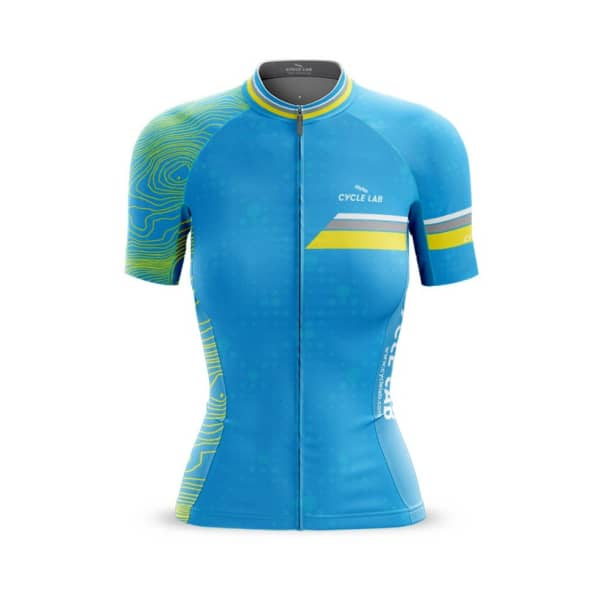 Cycle Lab Ladies Blue Team Conoturs Short Sleeve Jersey