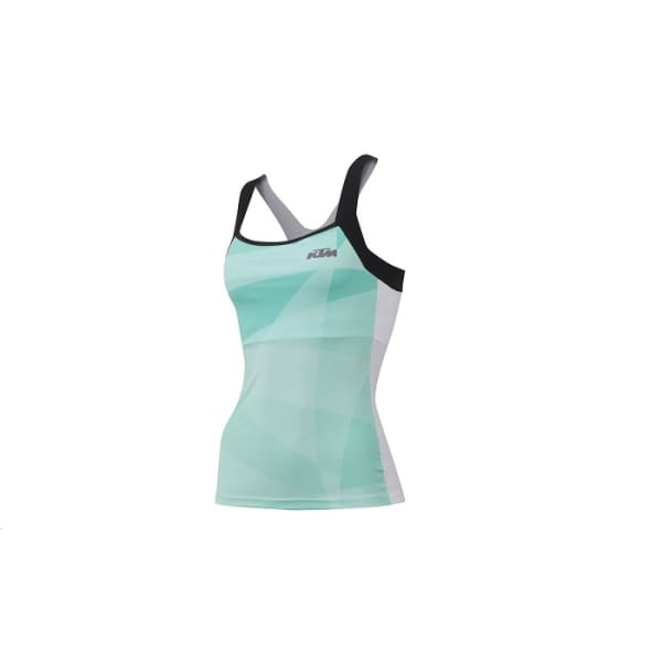 KTM Ladies Aqua/Black Short Sleeve Vest