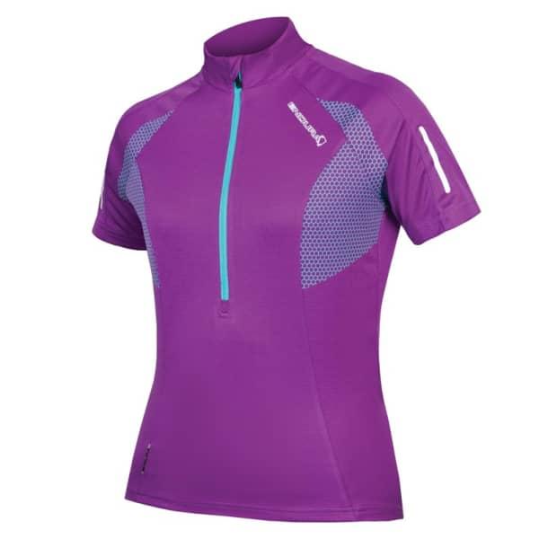 Endura Ladies Lilac Xtract Short Sleeve Jersey