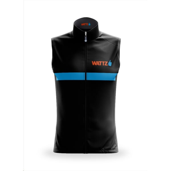 Wattz Men's Black/Orange Amplify Ride On Gilet