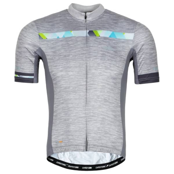 Capestorm Men's Light Grey Strive Short Sleeve Jersey