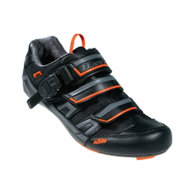 KTM Unsiex Black/Orange Team Road Shoe