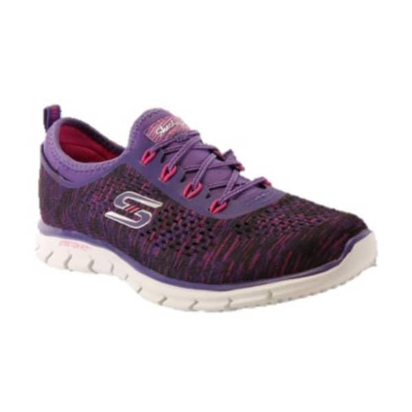 Skechers Ladies Glider-Deep Space Shoes (Purple/Pink)