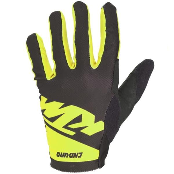 KTM Factory Enduro Black/Yellow Long Finger Gloves