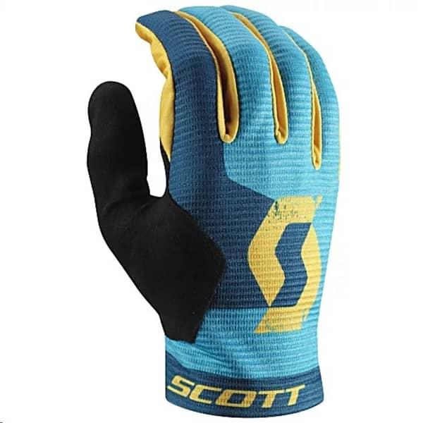 Scott Blue/Yellow Ridance Eclipse Long Finger Gloves