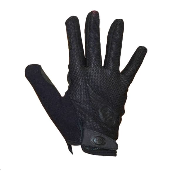 Fit Shred Long Finger Black Gloves