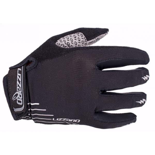 Lizzard Dactyl Black/Grey Long Finger Gloves