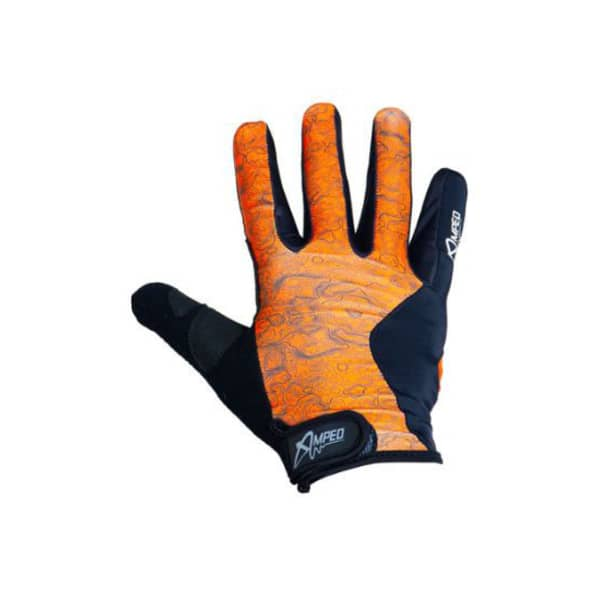 Amped Trail Orange Long Finger Gloves