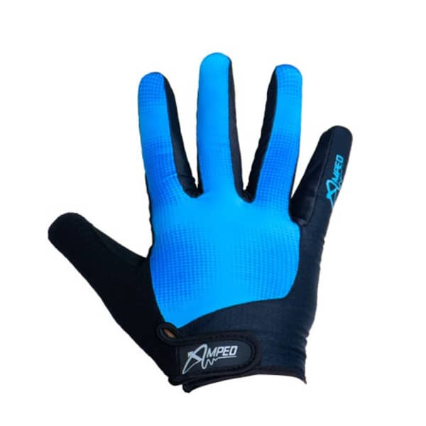 Amped Downhill Trail Blue/Black Long Finger Gloves