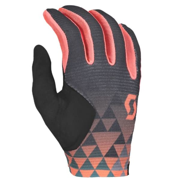 Scott Ridance Ladies  Black/Grey/Camellia Long Finger Gloves