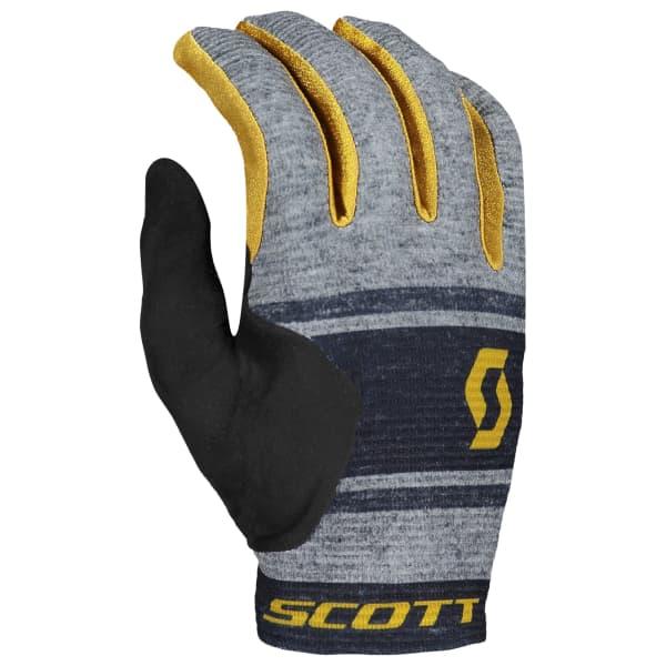 Scott Ridance Dark Grey/Yellow Long Finger Glove