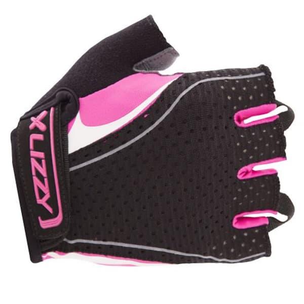 Lizzy Lotta Ladies Black/Pink Short Finger Gloves