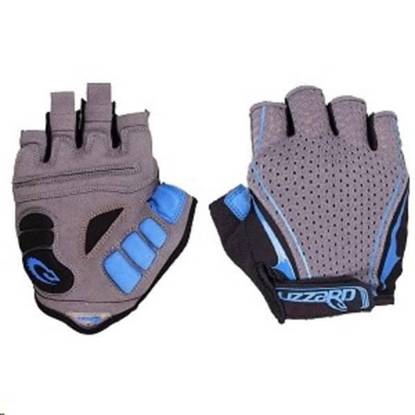 Lizzard Digit Black/Blue Short Finger Gloves