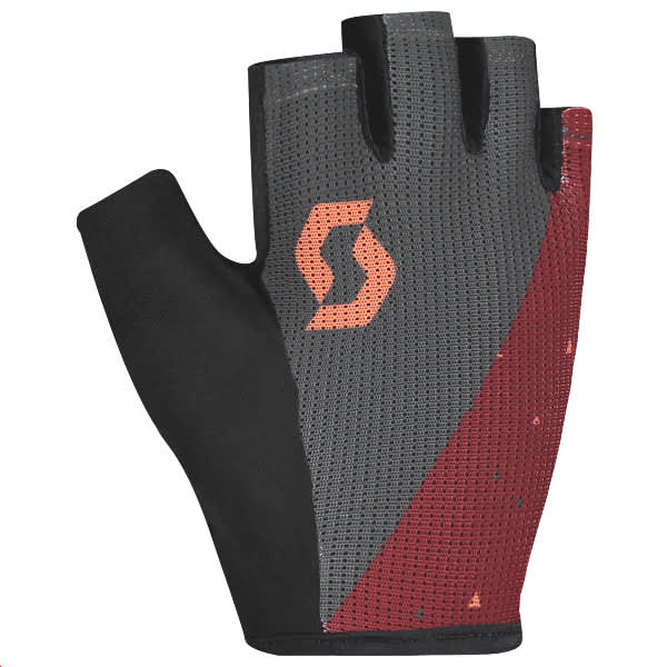 Scott Aspect Gel Ladies Grey/Merlot Short Finger Gloves