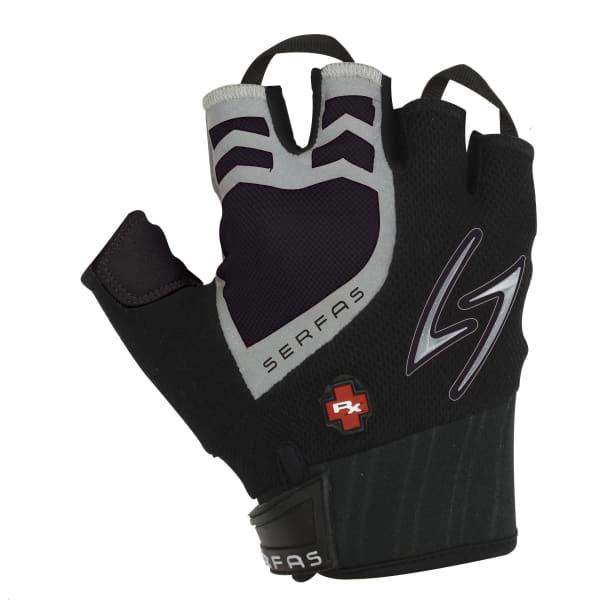 Serfas RX Black Gel Short Finger Gloves