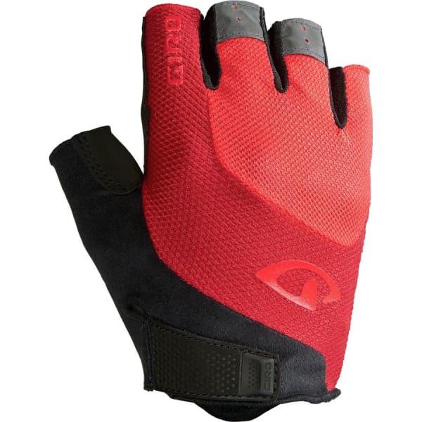 Giro Black/Red Bravo Gel Short Finger Gloves