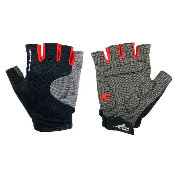First Ascent Alps Black Short Finger Gloves