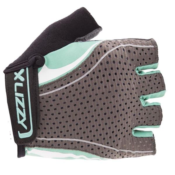 Lizzy Lotta Ladies Grey/Teal Short Finger Gloves