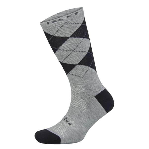 Falke Unisex Mid Grey Limited Edition Argyle Socks