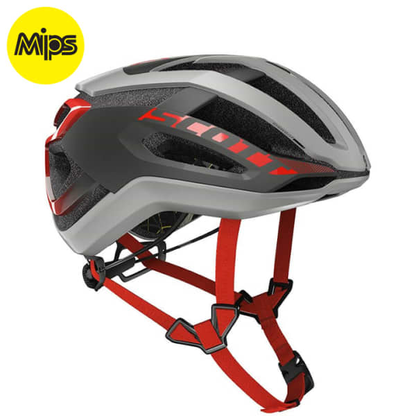 Scott Centric Plus Stellar Grey/ Red  Road Helmet