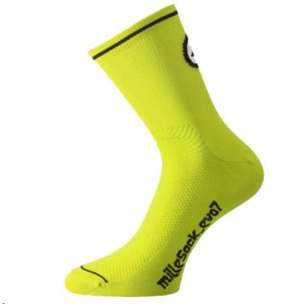Assos Men's Yellow Mille Evo 7 Socks