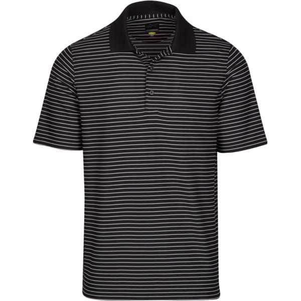 Greg Norman Protek Pique Stripe Men's Navy Shirt