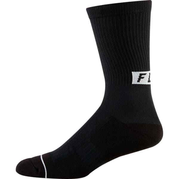 Fox Men's Black Cushion 8 Inch Trail Socks
