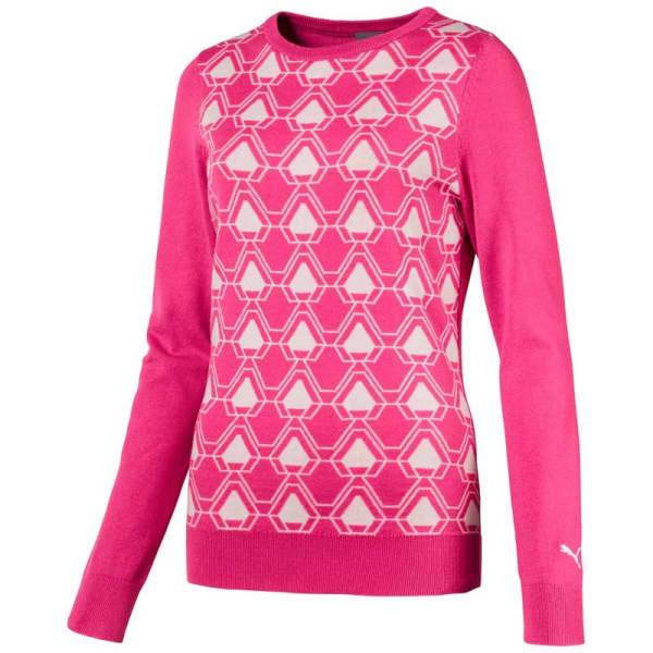 Puma Dassler Ladies Carmine Rose Sweater Jersey