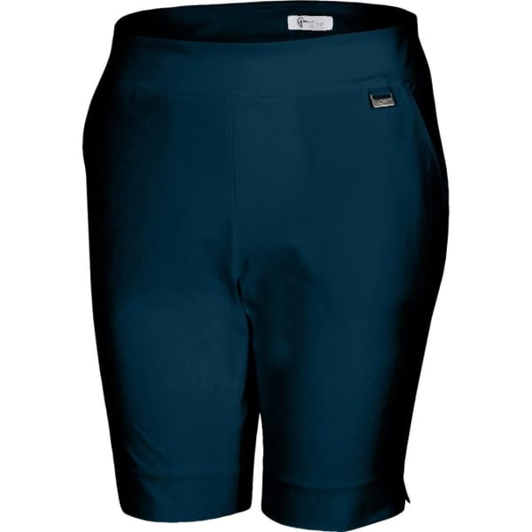 Greg Norman 4 Way Stretch Pull-On Ladies Dark Navy Bermuda