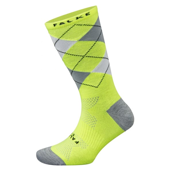Falke Argyle Neon Lime/Grey Socks