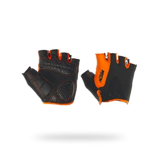 KTM Factory Line Black/Orange Short Finger Gloves
