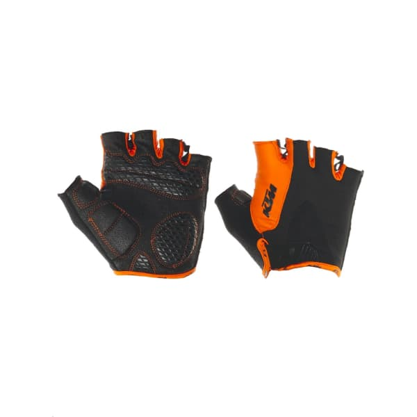 KTM Junior Factory Youth Black/Orange Short Finger Gloves