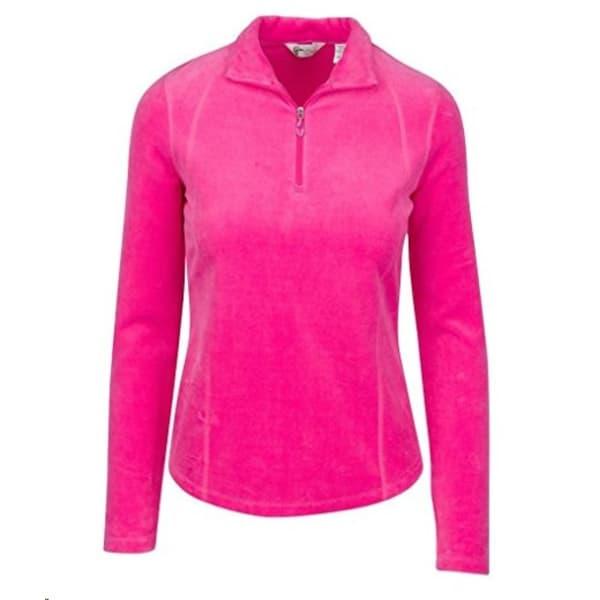 Greg Norman Velour Ladies Pink Pique Jersey