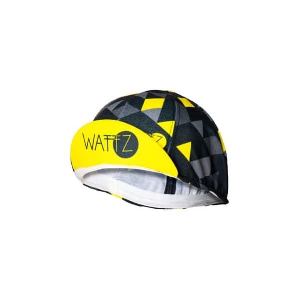 Wattz Geo Headwear Bike Black/Yellow Cap
