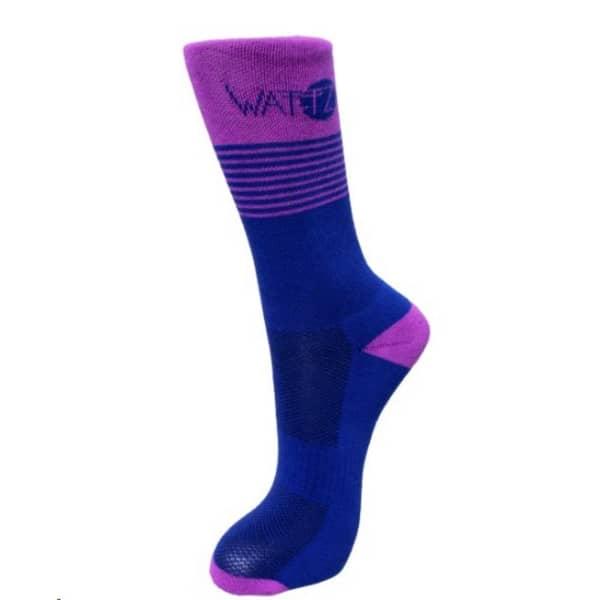 Wattz Stripez Blue/Purple Socks