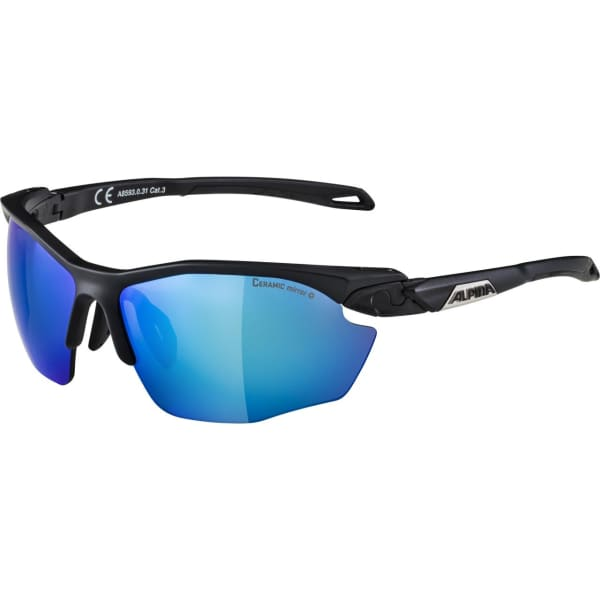 Alpina Twist Five HR CM+ Matte Black/Blue Sunglasses