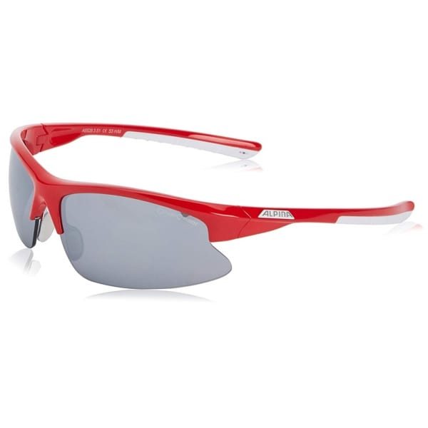 Alpina Red/Grey Tri-Dribs 2.0 Sunglasses