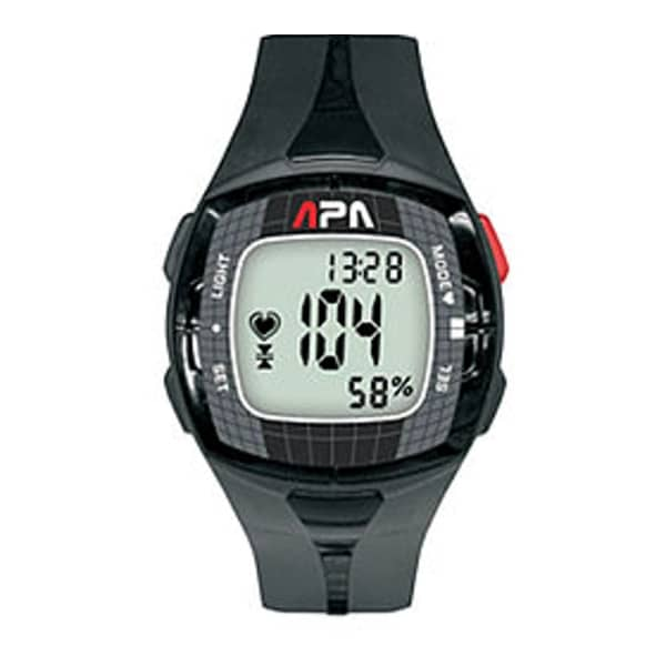 APA Black Multisport HRM Watch